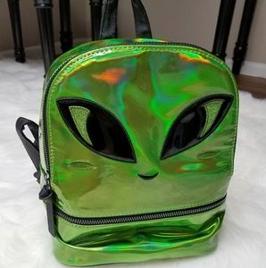 Alien Baby Holographic Mini Fashion Backpack Holo